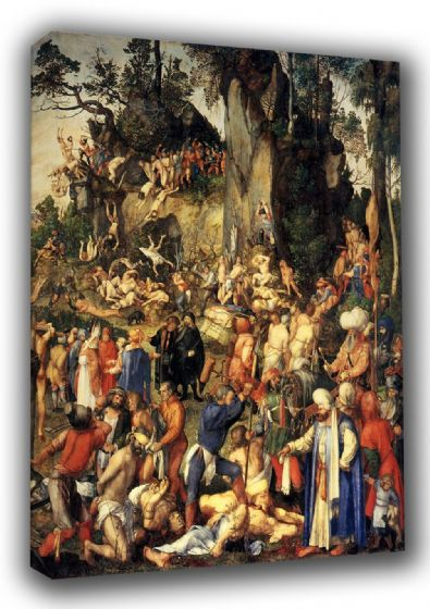 Durer, Albrecht: The Martyrdom of the Ten Thousand. Biblical/Religious Fine Art Canvas. Sizes: A3/A2/A1 (00165)